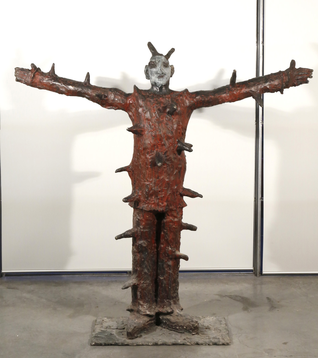 Joe Furlonger   Spiky Man,  2006  bronze and coloured patina  171 x 183 x 44 cm