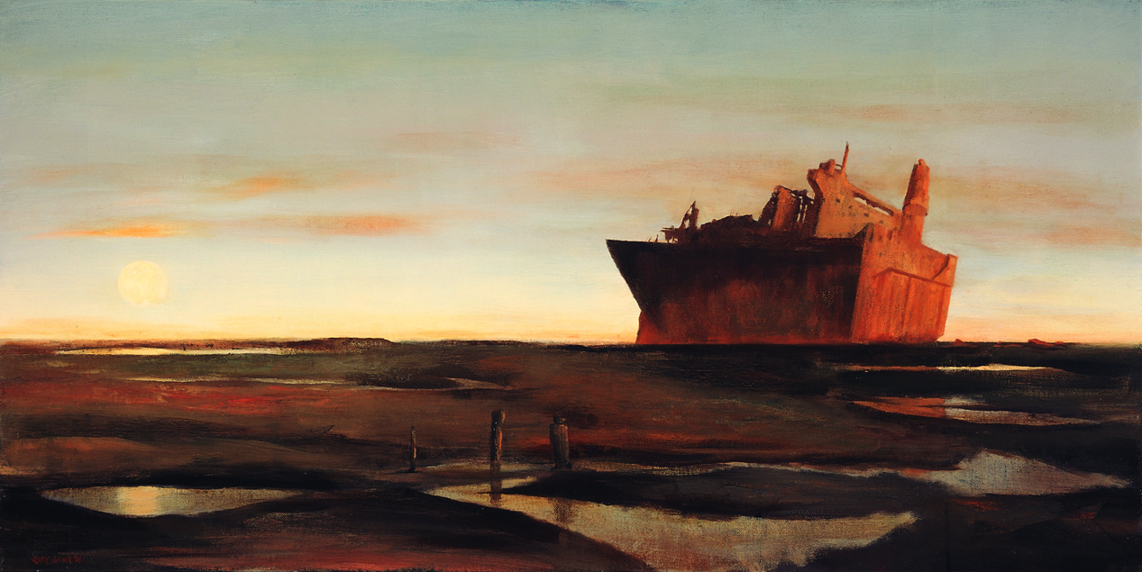 Rick Amor   The silent east II , 2006  oil on canvas  81 x 162 cm