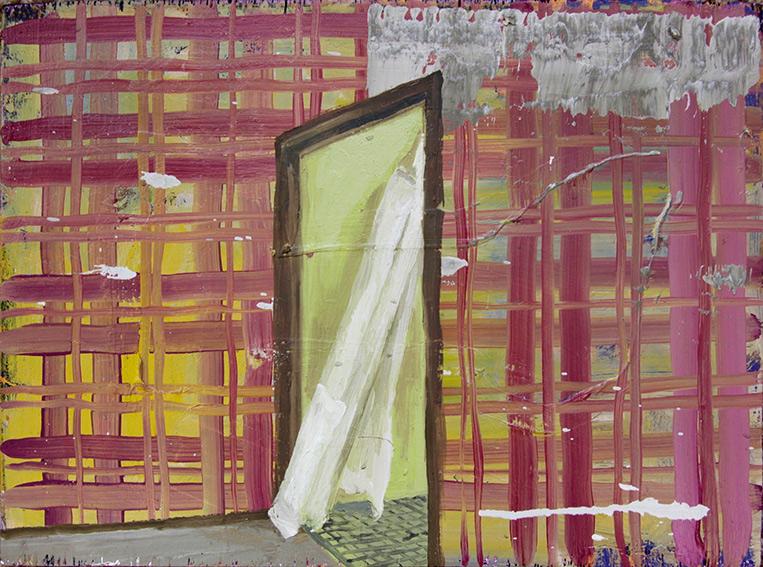 Interior , 2017  oil on plywood  24.5 x 33.5 cm