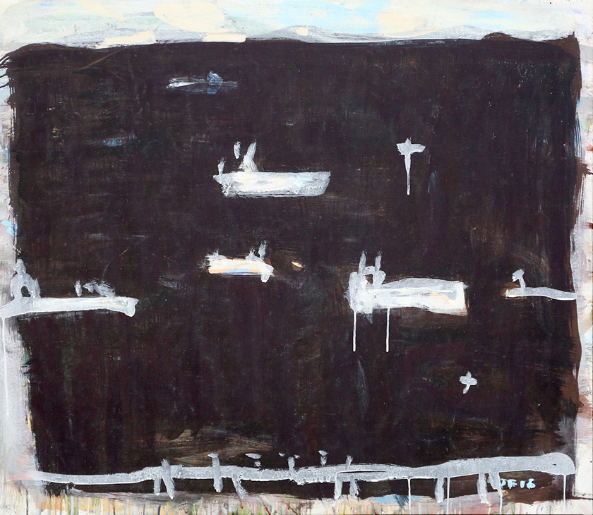 Hay Point, Near Mackay , 2016  pigment and PVA binder on canvas  101 x 115 cm