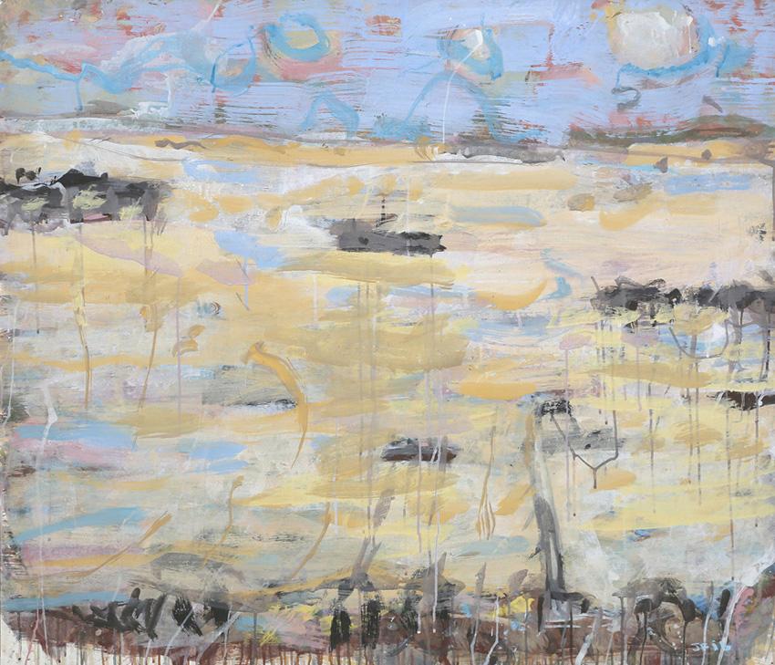 Yeppoon , 2016  pigment and PVA binder on canvas  109 x 126 cm