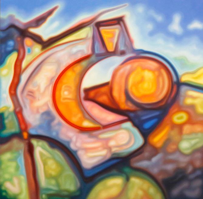 Planck Epoch , 2017  oil on linen  153 x 153 cm
