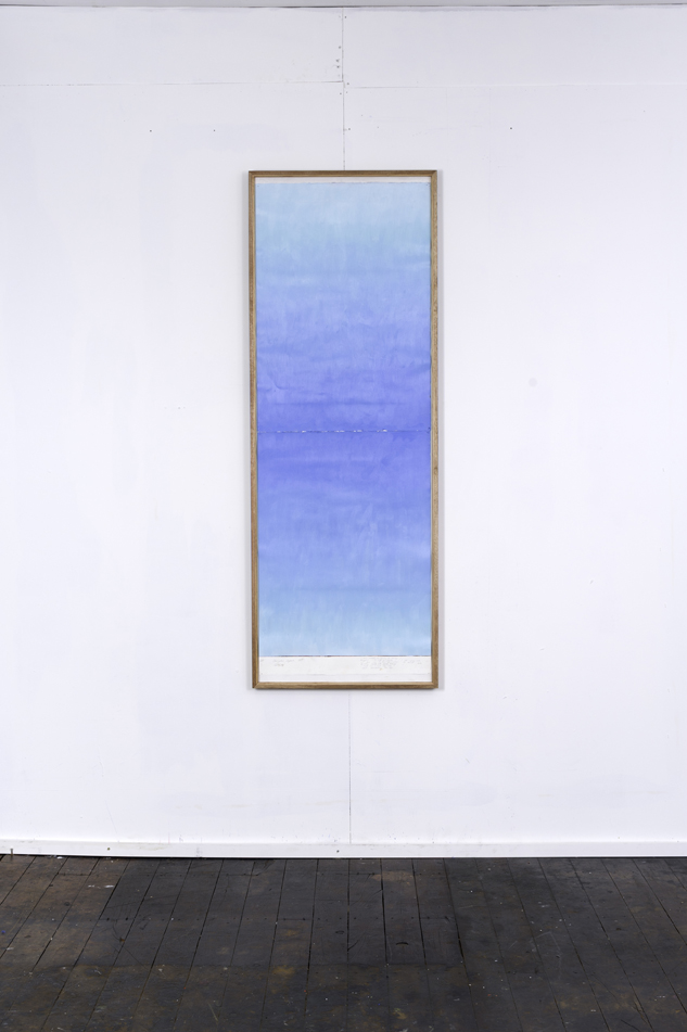 RH 261 Shinjuku, Japan (1157 120216) , 2016  oil paint, synthetic polymer, marble dust, wax, cotton rag paper, Tasmanian Oak, Museum glass  161 x 58 x 4 cm