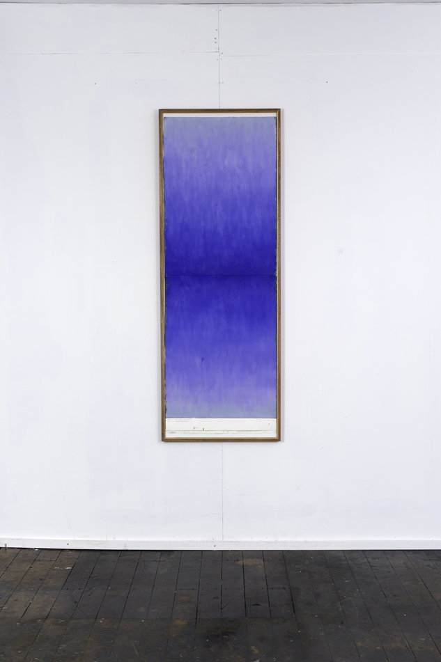 RH 263 Mt Titlis, Switzerland (1930 290114) , 2016  oil paint, synthetic polymer, marble dust, wax, cotton rag paper, Tasmanian Oak, Museum glass  161 x 58 x 4 cm