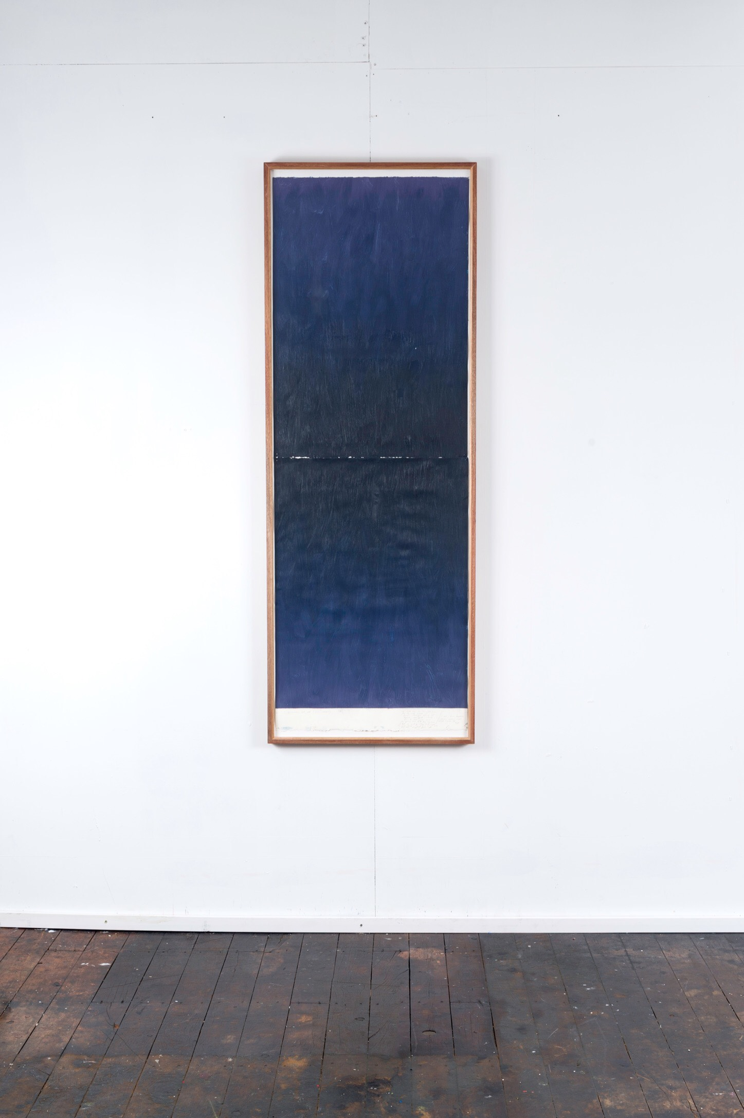 RH 264 Downtown, LA (2317 28021216) , 2016  oil paint, synthetic polymer, marble dust, wax, cotton rag paper, Tasmanian Oak, Museum glass  161 x 58 x 4 cm