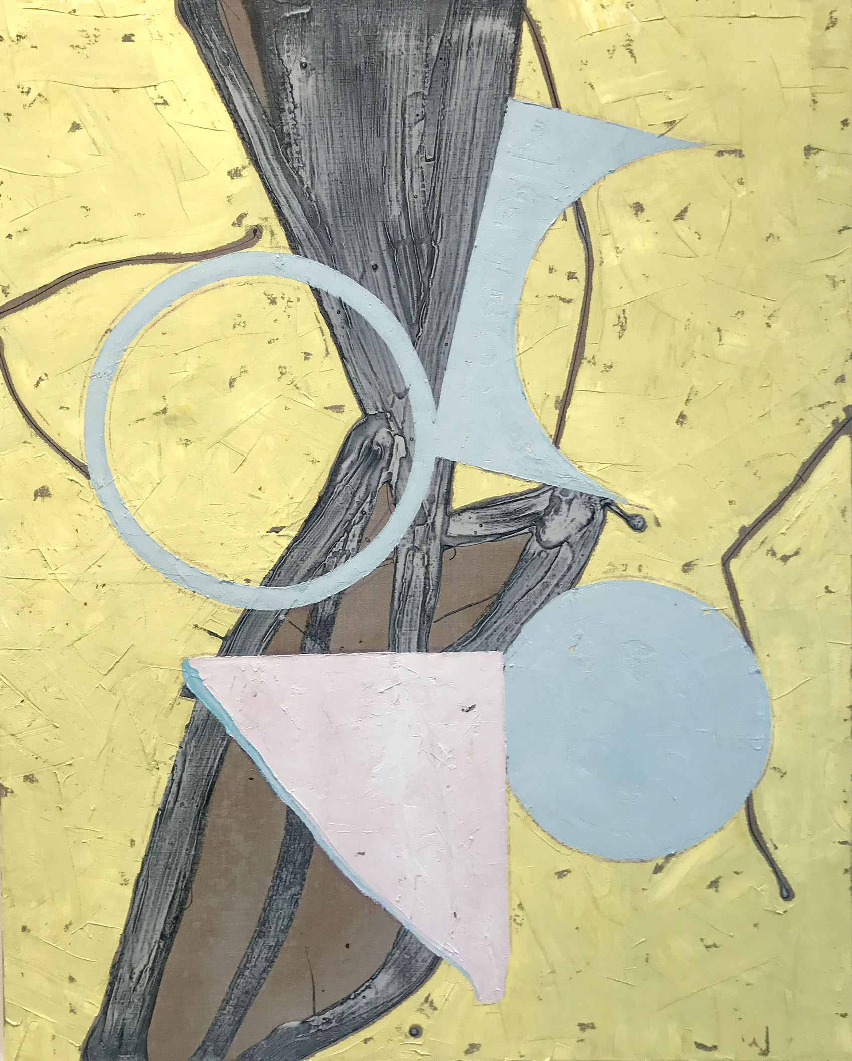 PETER SHARP   Wattle , 2017  oil and acrylic o lien  152 x 122 cm