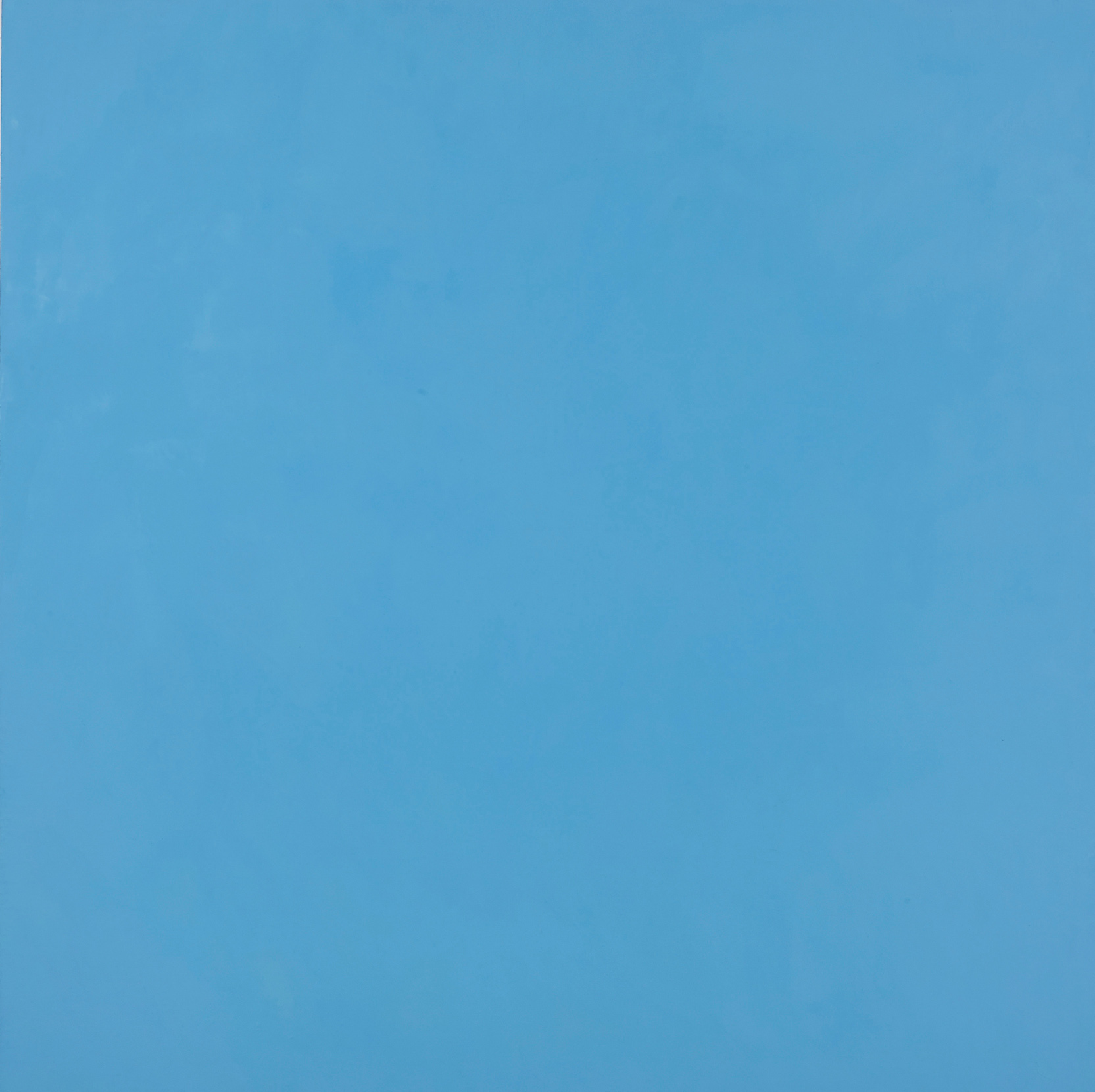 DAVID SERISIER   Gallium Sky Painting - Light Blue , 2014  oil and wax on linen  198 x 198 cm