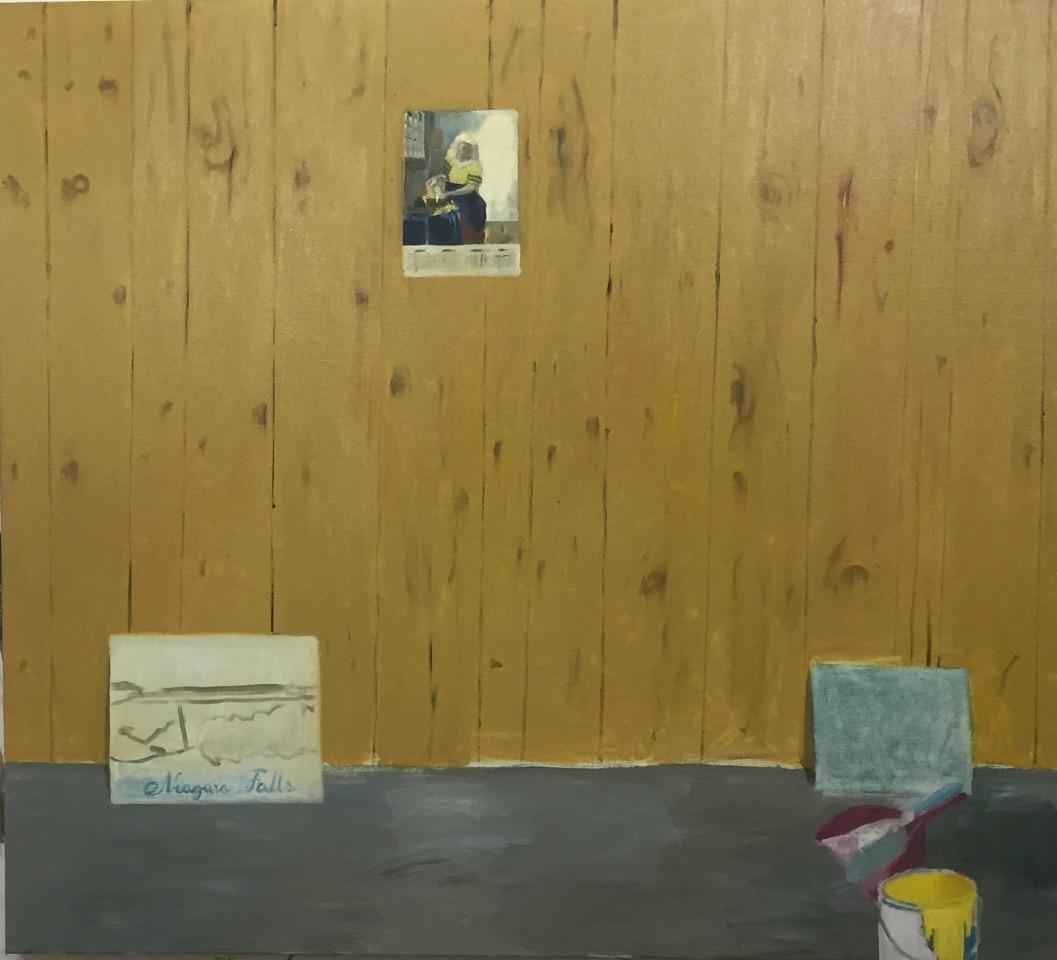 NICK COLLERSON   Veneer Room , 2016  oil on linen  137 x 152.4 cm