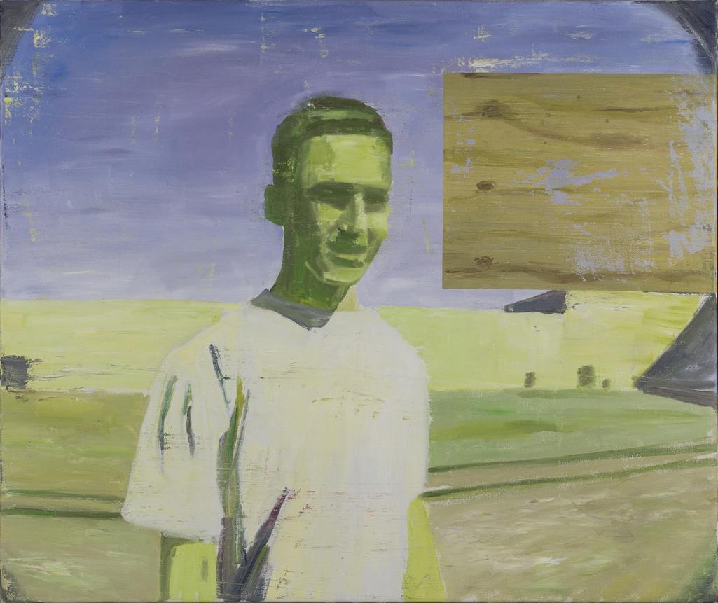 NICK COLLERSON   Alien, 2017  oil on linen  82 x 97 cm
