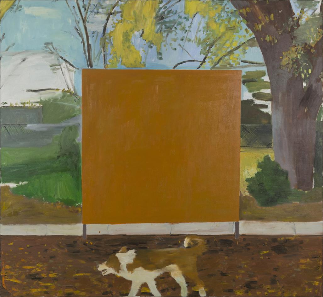 NICK COLLERSON   Border Collie , 2017  oil on linen  167.7 x 183 cm