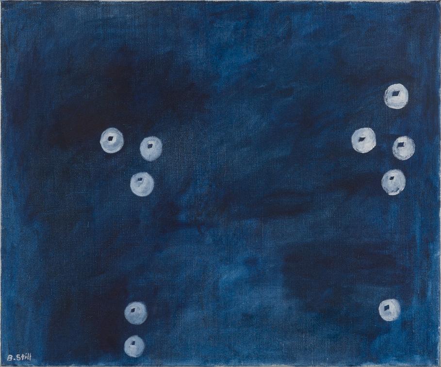 NICK COLLERSON   Bubbles , 2017  oil on linen  51 x 61 cm