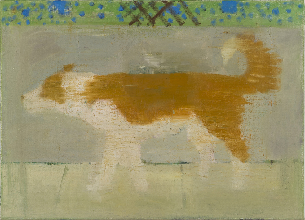 NICK COLLERSON   Dog , 2017  oil on linen  66 x 92 cm
