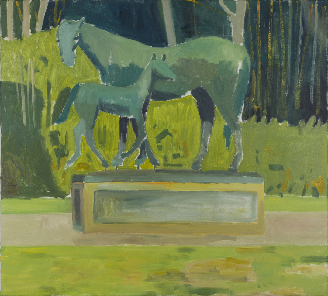NICK COLLERSON   Green Painting , 2017  oil on linen  137 x 152 cm