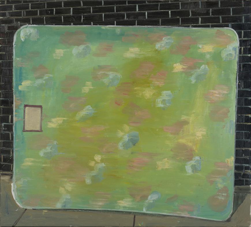 NICK COLLERSON   Mattress , 2017  oil on linen  137 x 152 cm