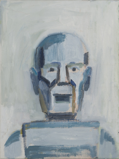 NICK COLLERSON   Robot , 2017  oil on linen  61 x 46 cm