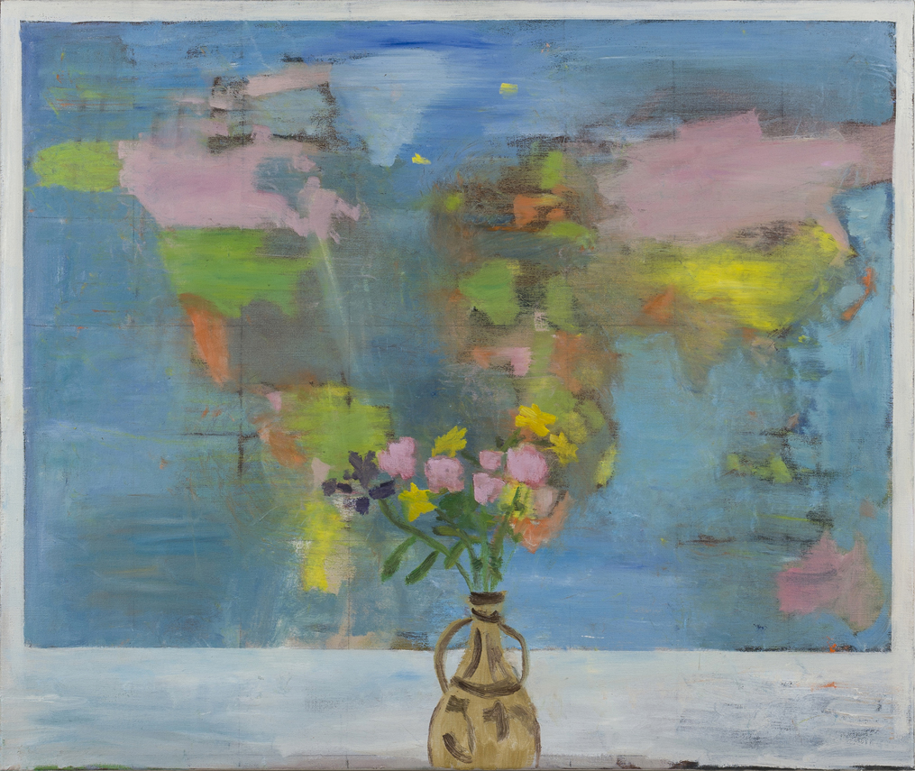 NICK COLLERSON   Flowers , 2017  oil on linen  81 x 97 cm
