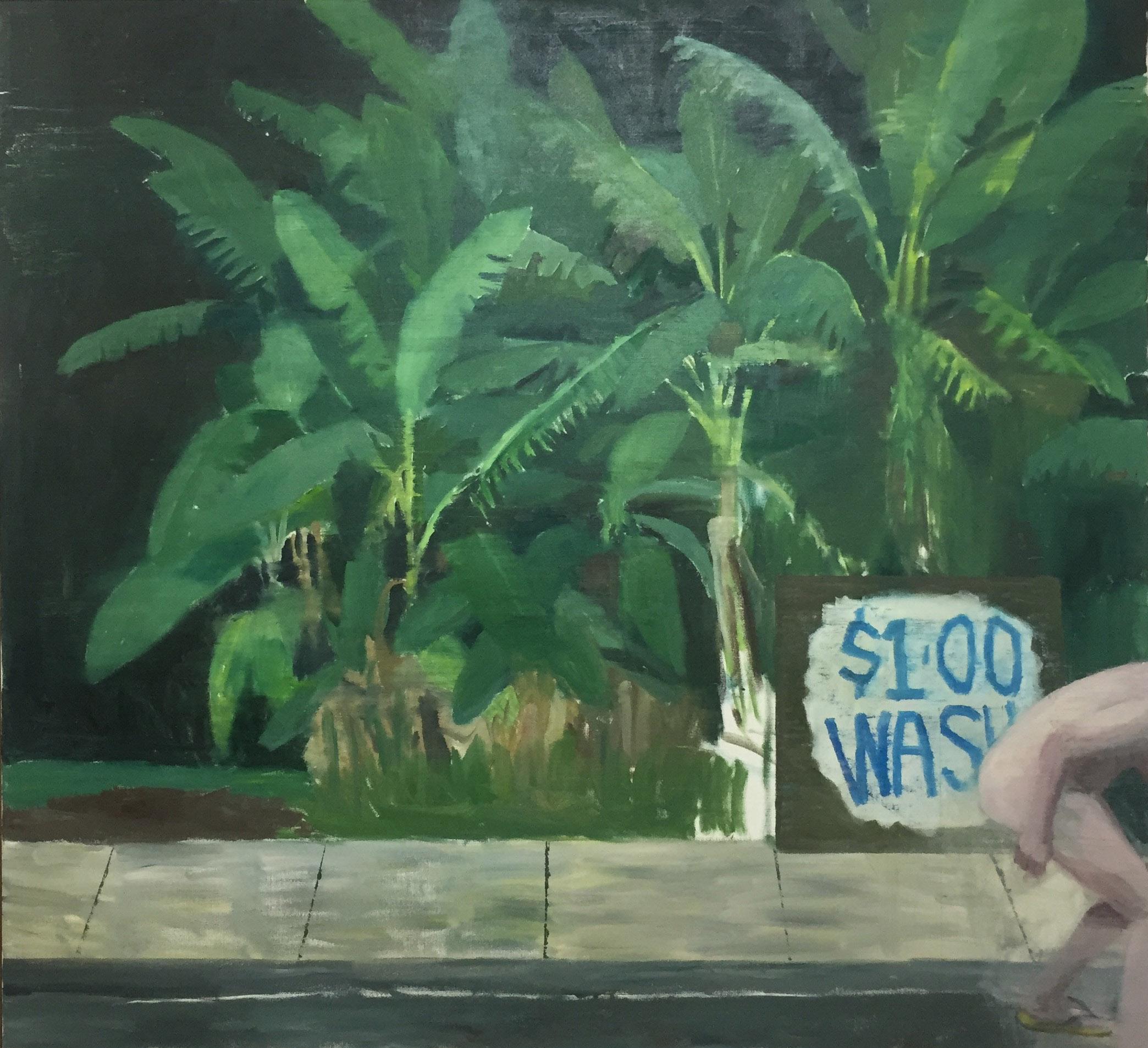 NICK COLLERSON   Night, 2017  167.7 x 183 cm