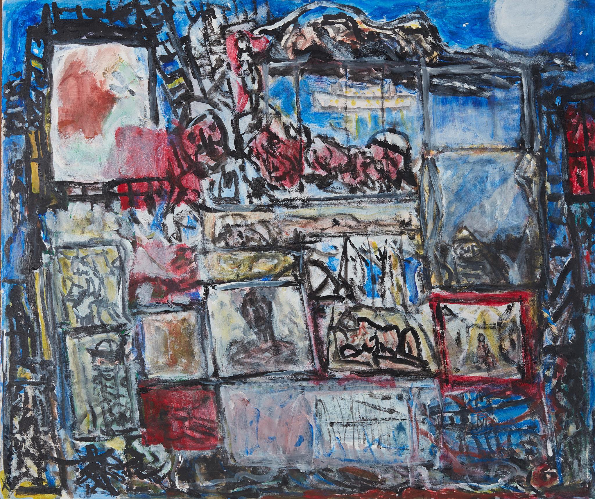KEVIN CONNOR  The Apartment , 2018 gouache on 300gsm cotton paper 100 x 85 cm