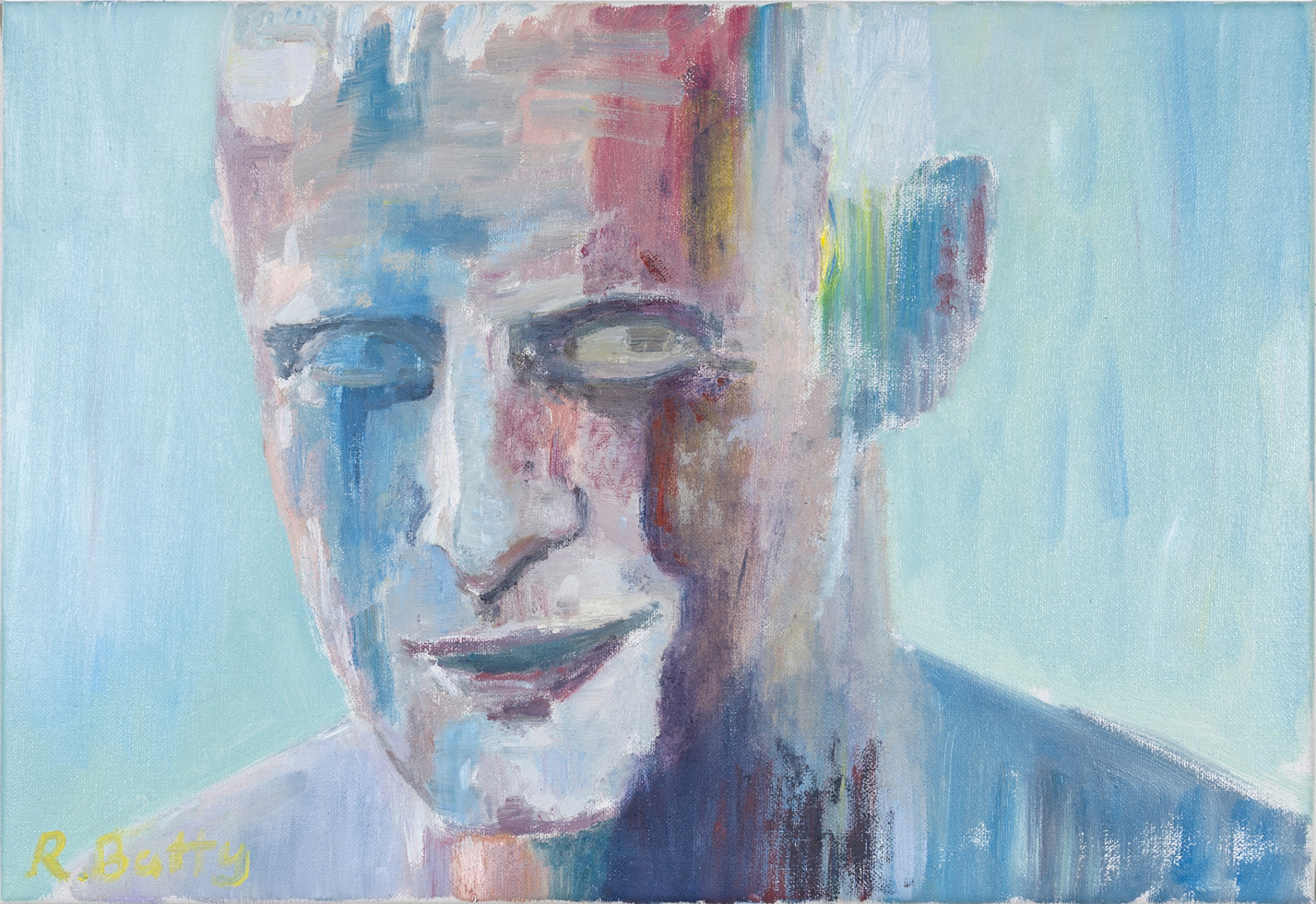 NICK COLLERSON  A Self Portrait , 2018 oil on linen 38 x 56 cm