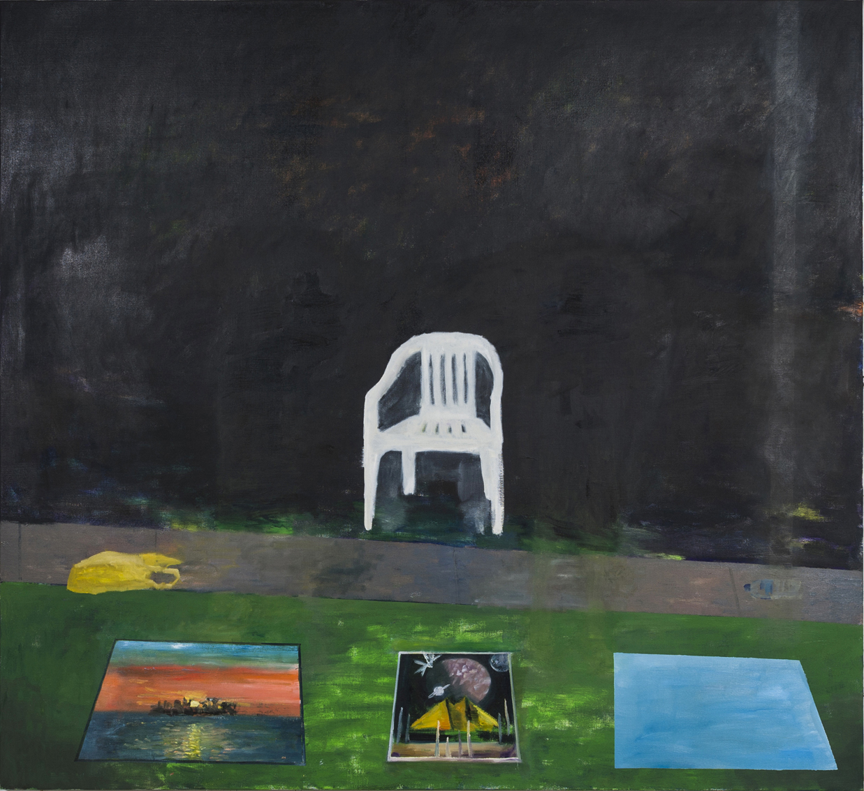 NICK COLLERSON  Castle on a Hill , 2018 oil on linen 167.6 x 183 cm