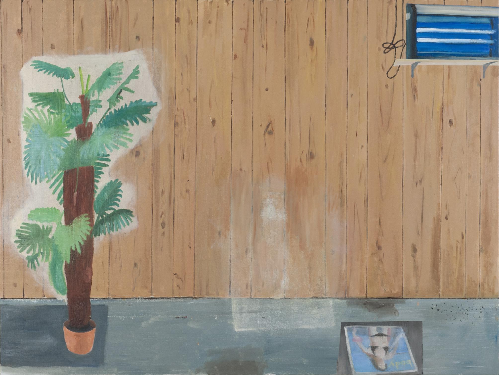 NICK COLLERSON  Veneer Room , 2016 oil on linen 137 x 183 cm