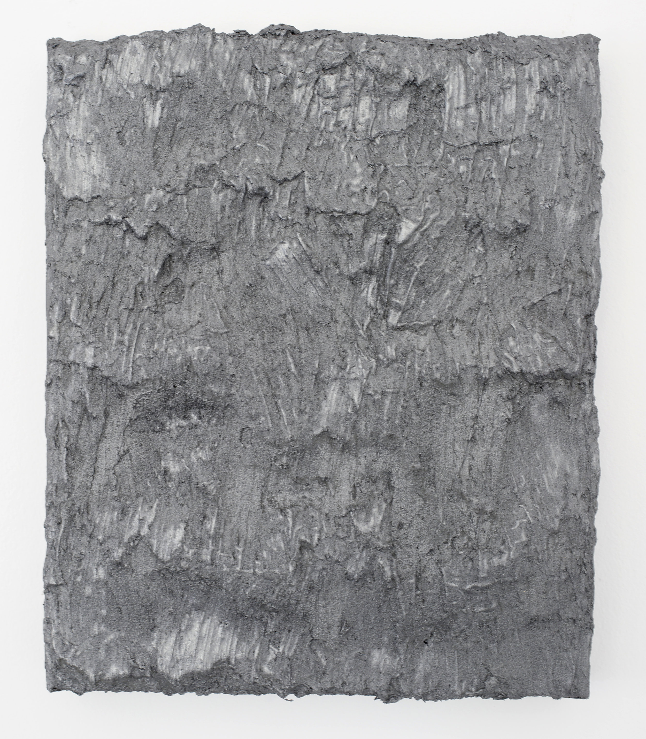 DAVID SERISIER  Silver Painting 1 , 2003 - 2018 oil and wax on linen 31.5 x 26 cm