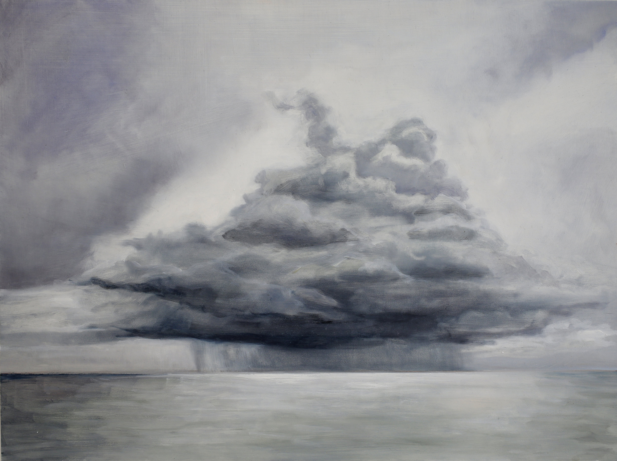 ANWEN KEELING  Storm Cloud , 2018 oil on board 30.5 x 40.5 cm