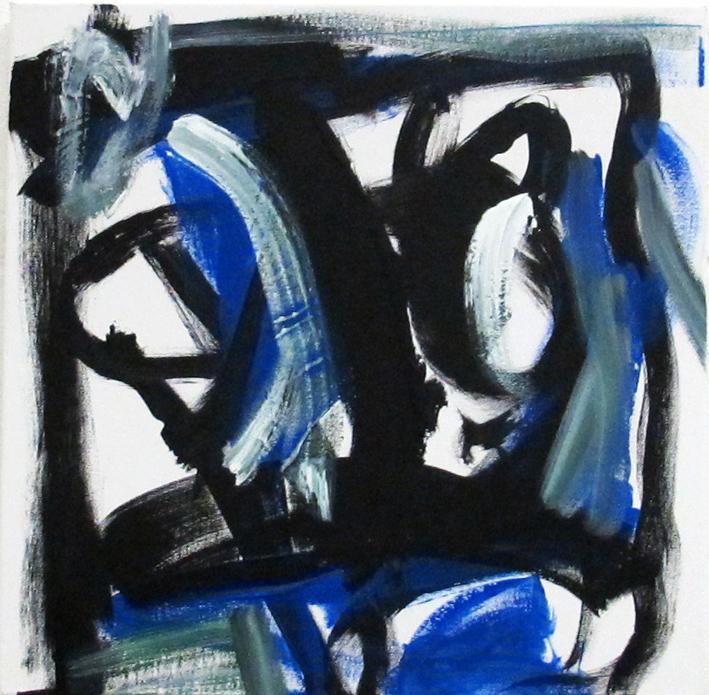 DICK WATKINS  Dexter Gordon , 2012 acrylic on canvas 45.5 x 45.5 cm