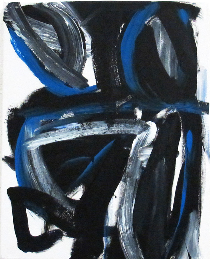 DICK WATKINS  Lester Young , 2012 acrylic on canvas 50.5 x 40.5 cm