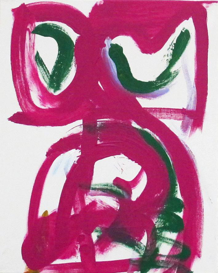 DICK WATKINS  Lenny Tristano , 2012 acrylic on canvas 50.5 x 40.5 cm