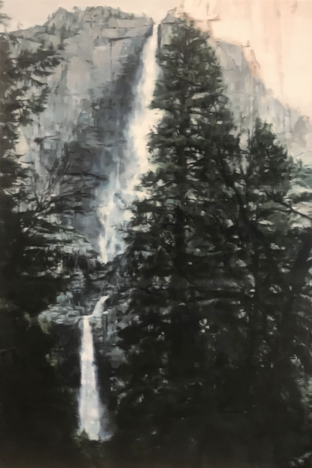AMELIA CARROLL  waterfall-1 , 2018 oil on canvas 151 x 101 cm