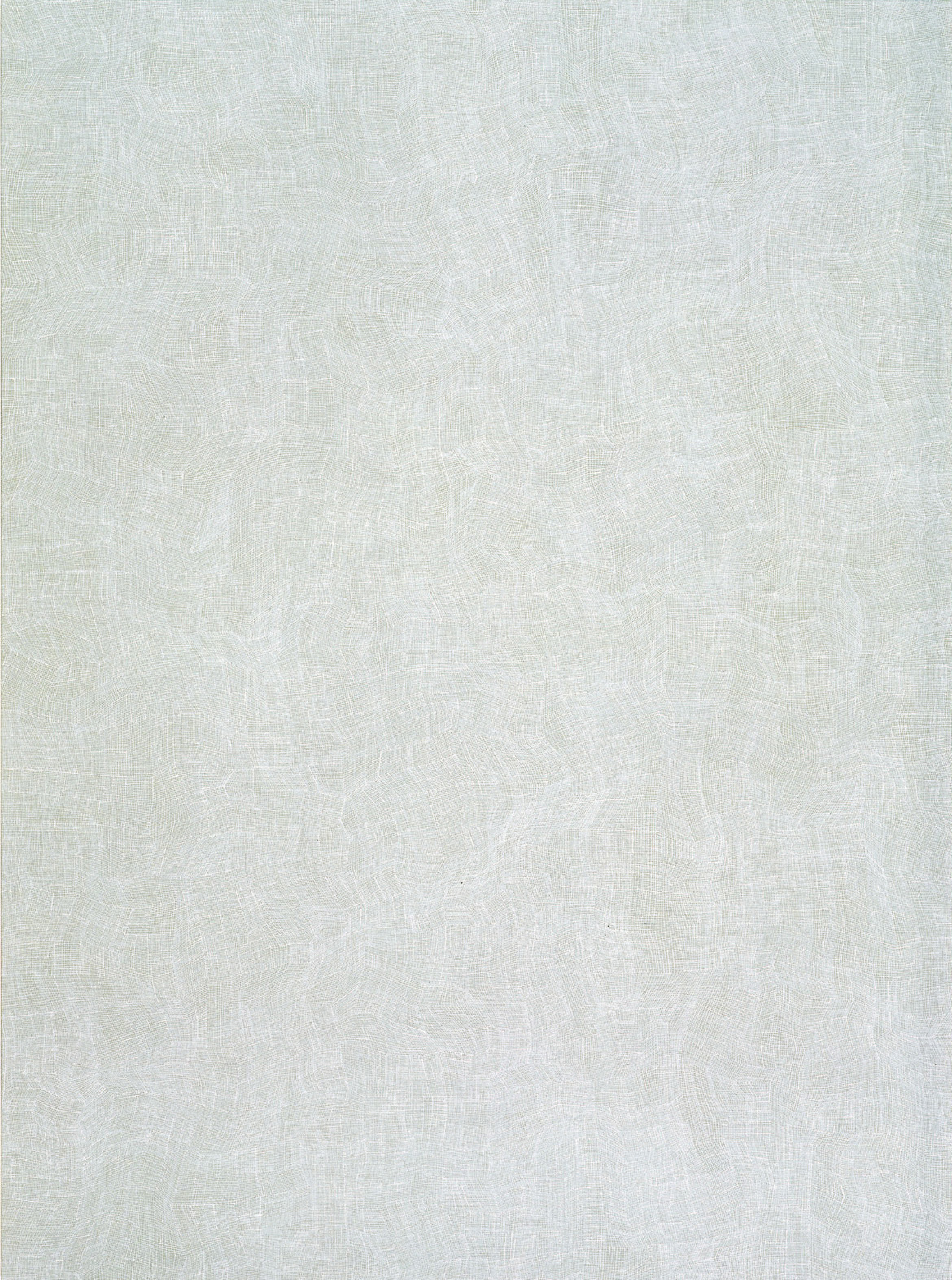 KARL WIEBKE  26-03 White on Grey , 2003 acrylic on Belgian linen 173 x 128 cm