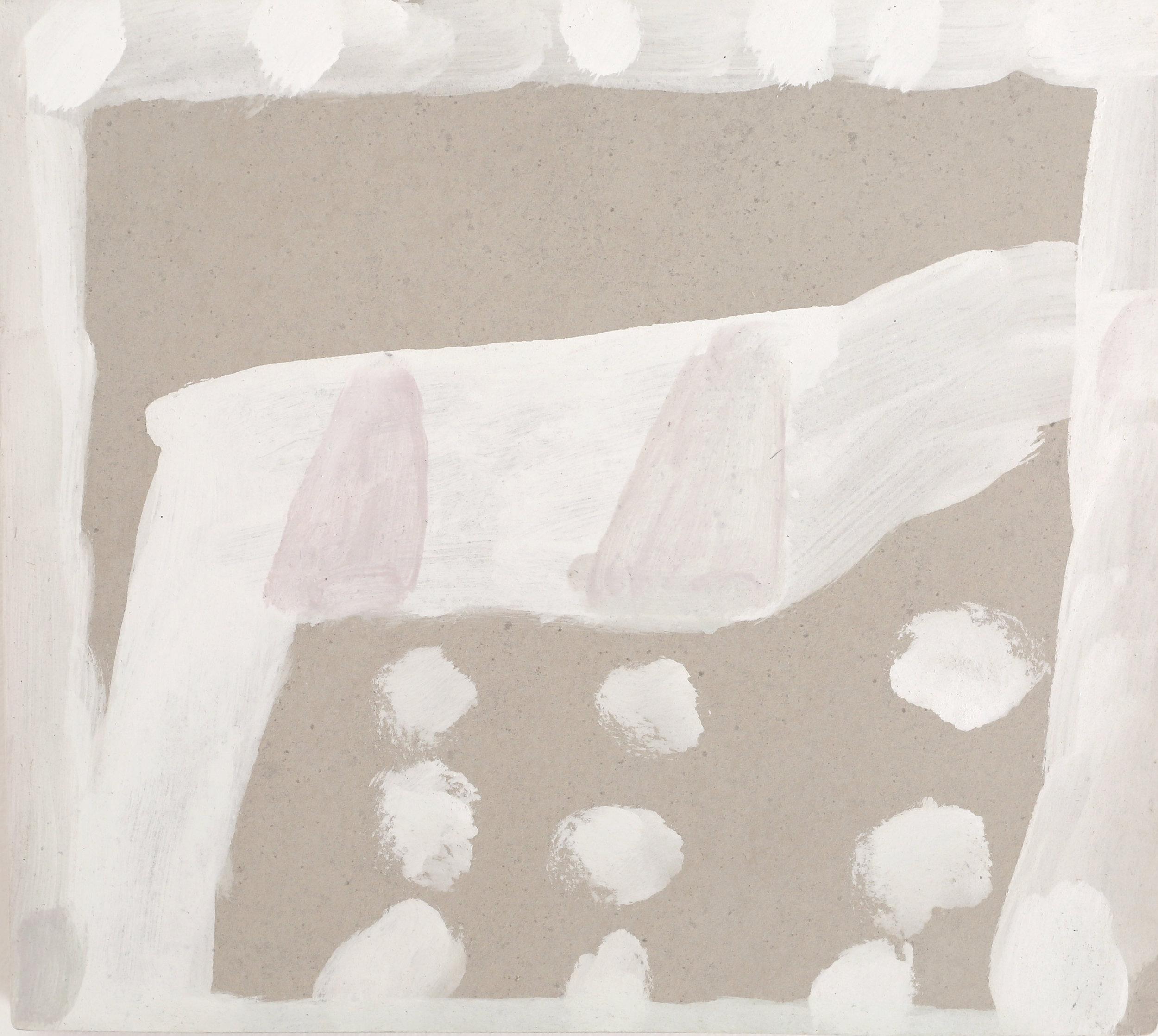 STEVEN HARVEY  Unrendered Room - Wingecarribee 1 , 2016 acrylic on compressed cement 40 x 45 cm