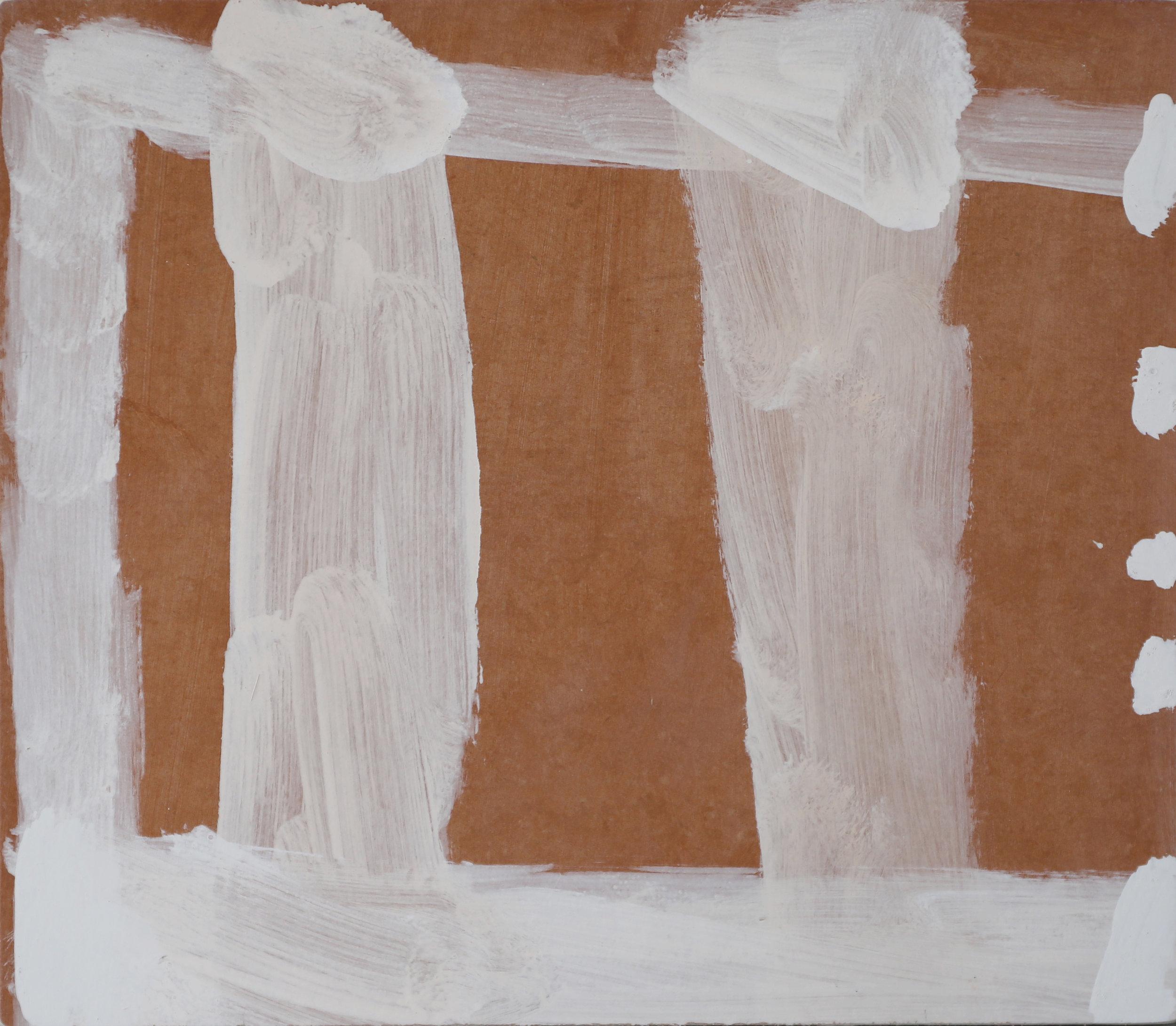 STEVEN HARVEY  Unrendered Room - Wingecarribee , 2016 acrylic on compressed cement 40 x 45 cm