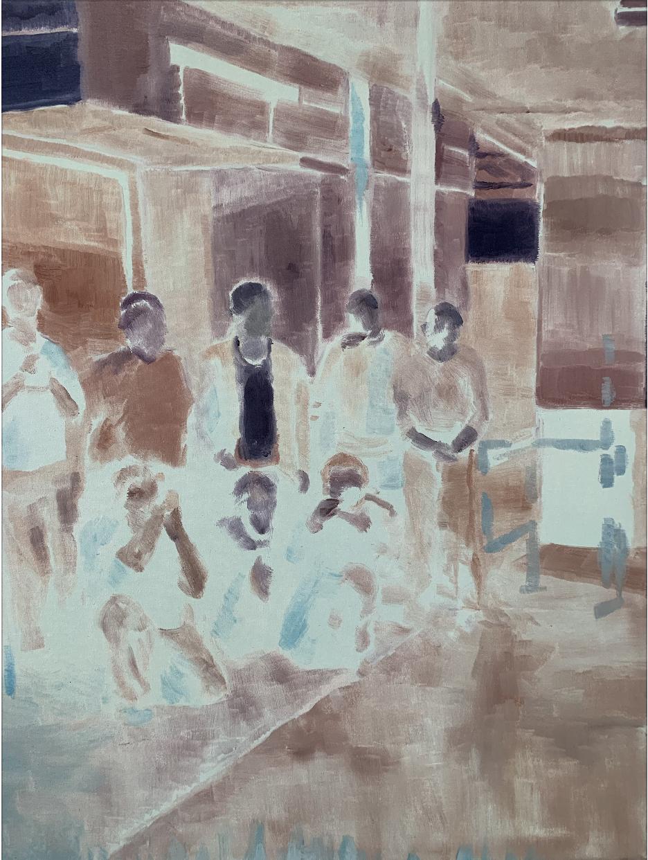 RYAN HOFFMANN  Original Part 2 , 2013 oil on canvas 63.5 x 52 cm