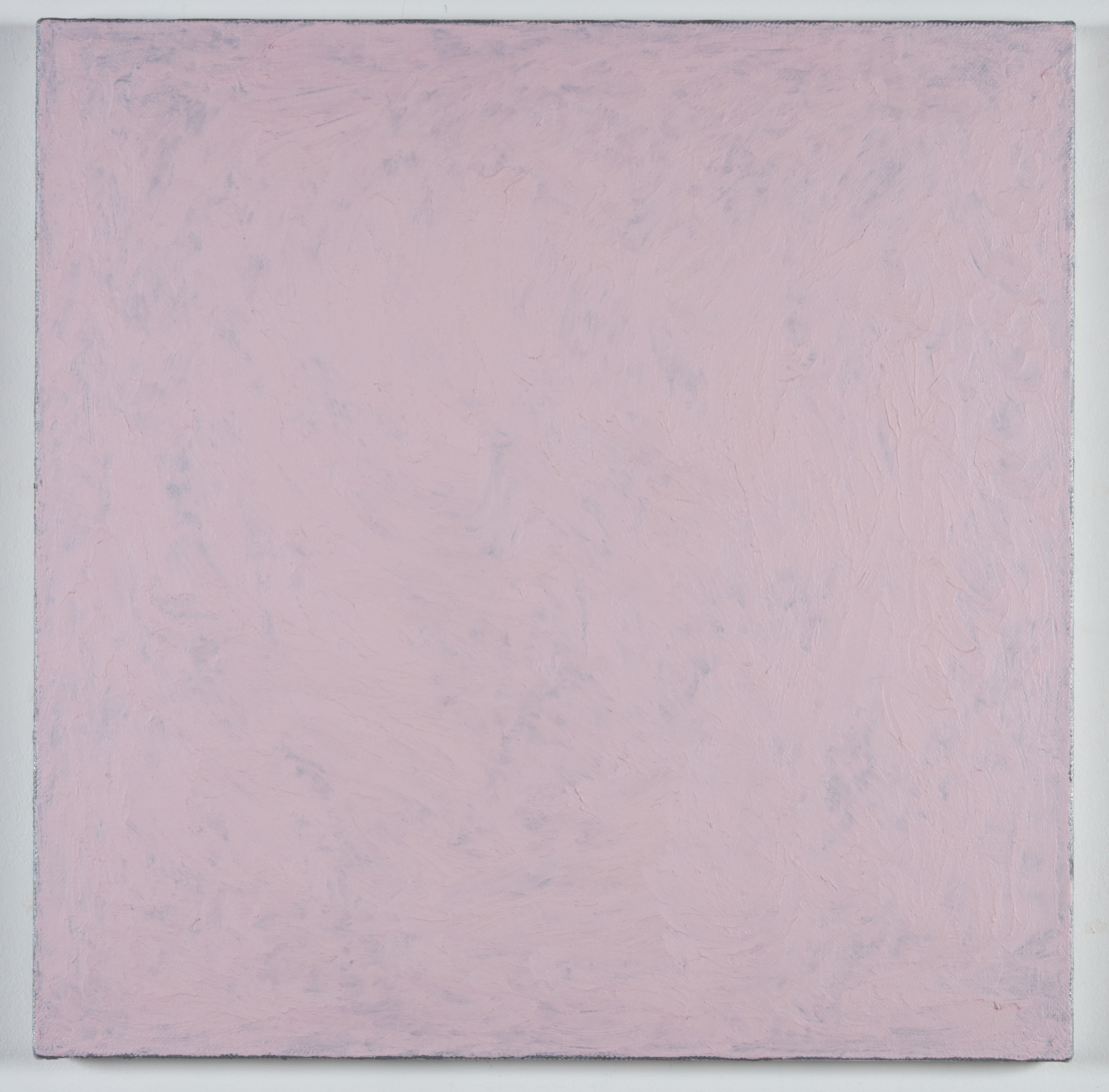 DAVID SERISIER  pink square painting , 2019 oil, wax and enamel on linen 84 x 84 cm