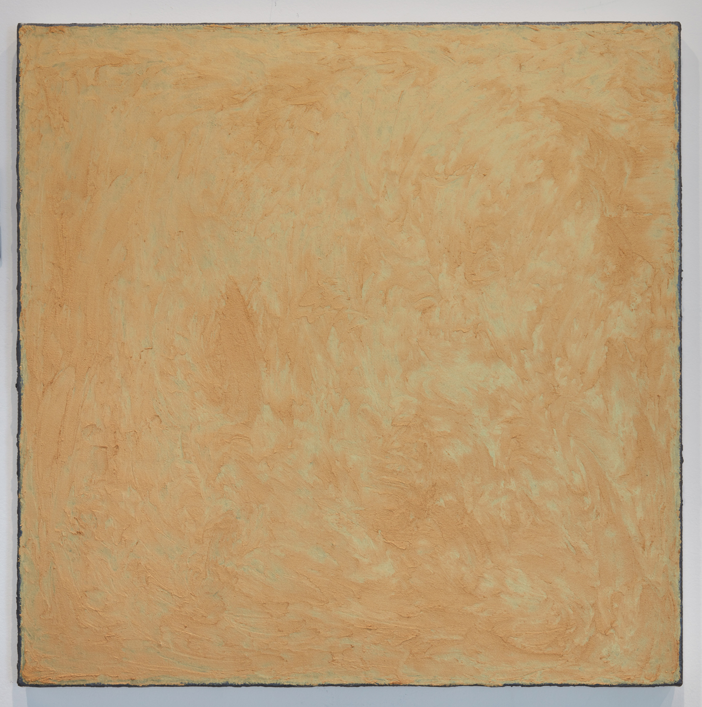 DAVID SERISIER  gold square painting , 2019 oil, wax and enamel on linen 84 x 84 cm