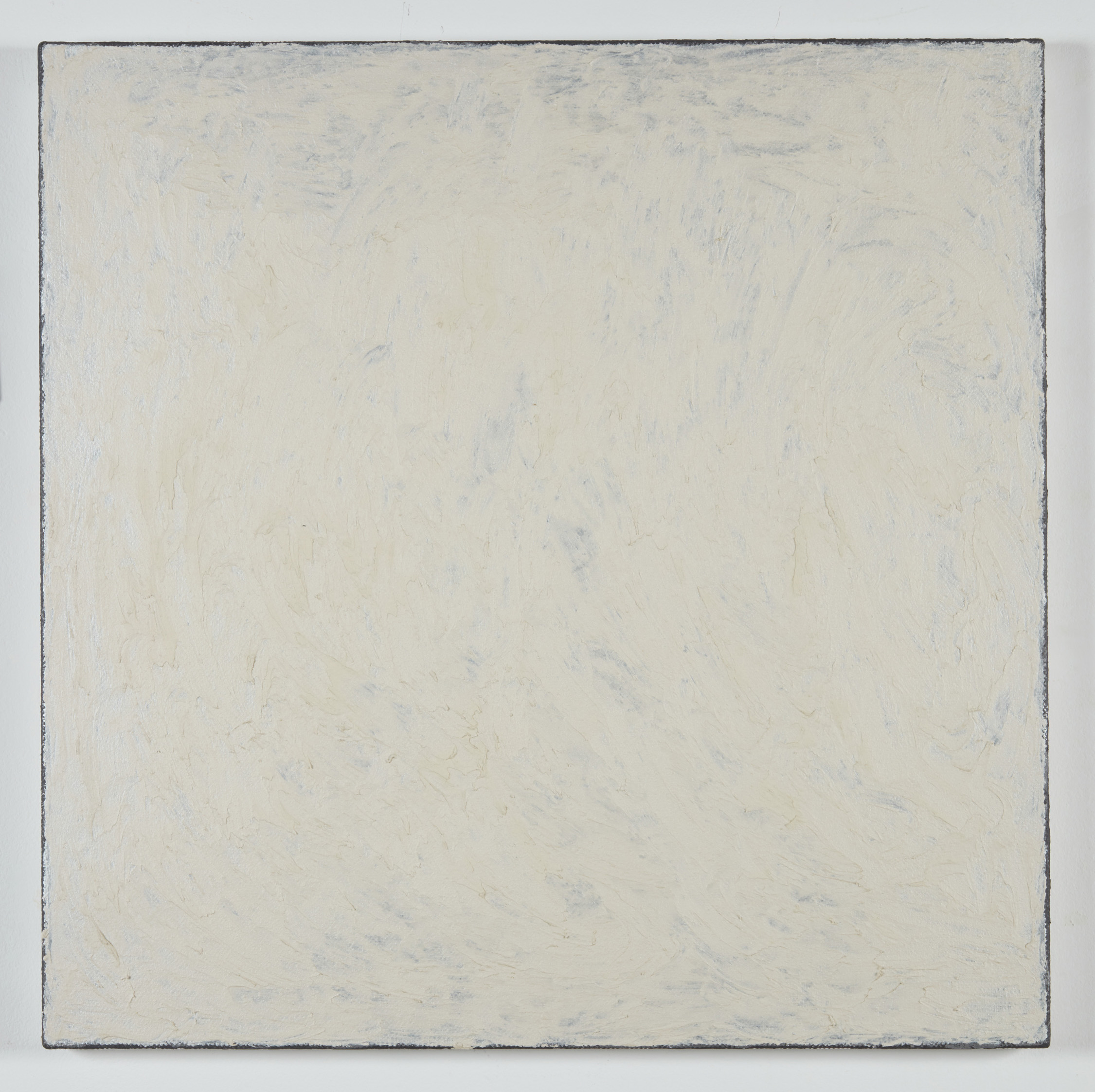 DAVID SERISIER  white mica square painting , 2019 oil, wax and enamel on linen 84 x 84 cm