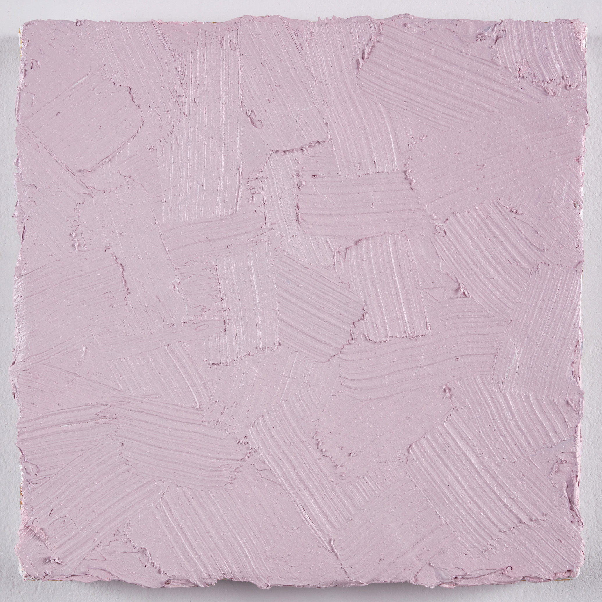 DAVID SERISIER  pink square painting , 2019 oil, wax and acrylic on linen 30.5 x 30.5 cm