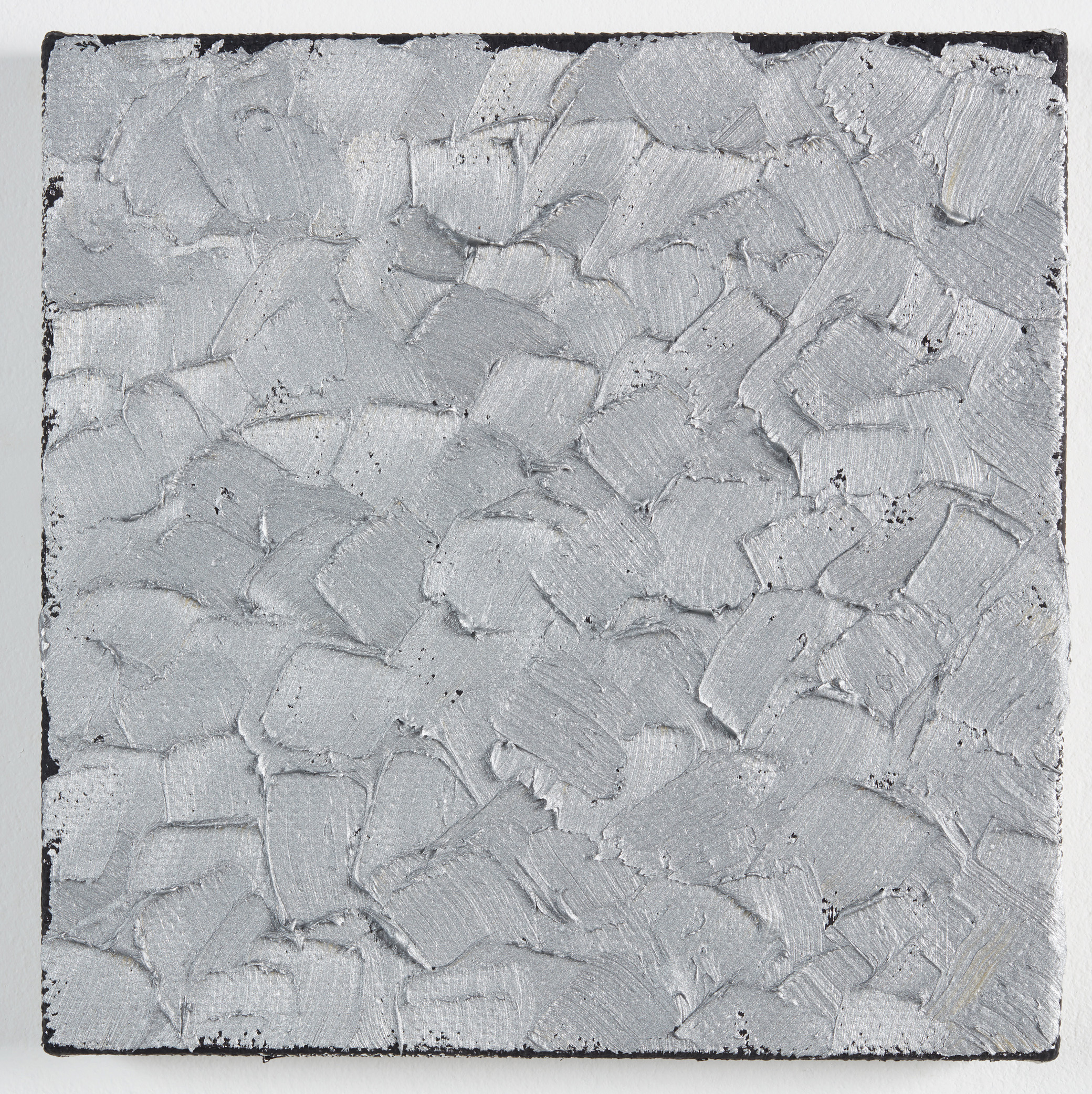 DAVID SERISIER  light silver painting , 2019 oil on linen 30.5 x 30.5 cm