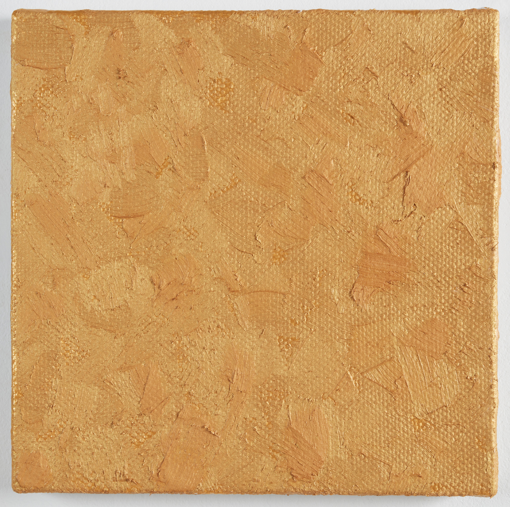 DAVID SERISIER  gold square painting no.1 , 2019 oil on acrylic on linen 30.5 x 30.5 cm