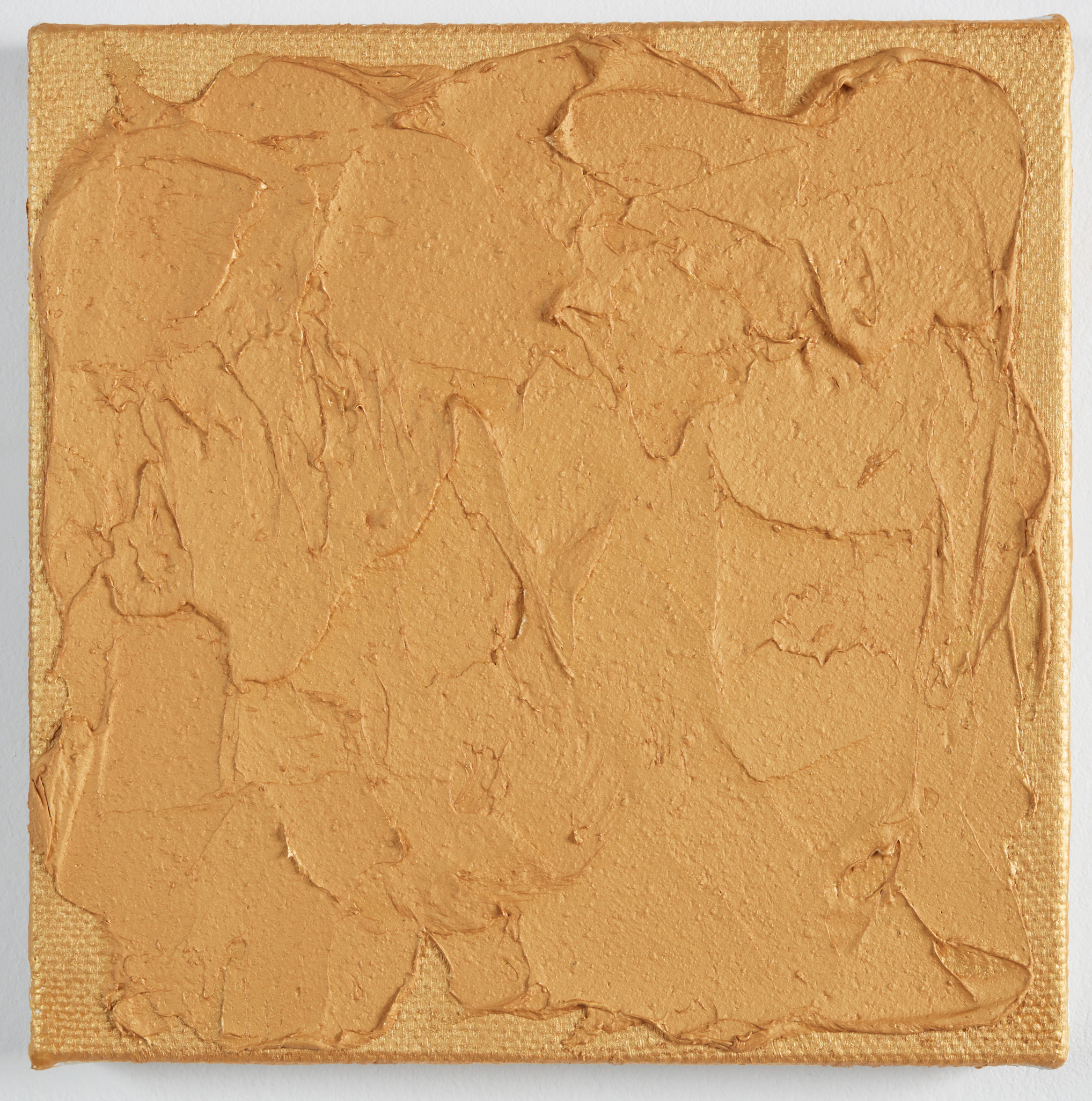 DAVID SERISIER  gold square painting no.3 , 2019 oil, wax and acrylic on linen 30.5 x 30.5 cm