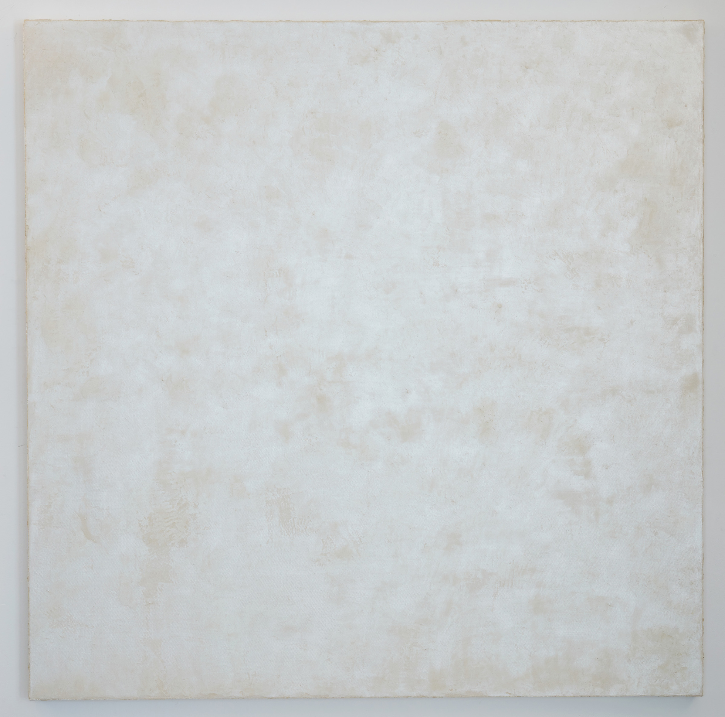 DAVID SERISIER  white mica square painting 1 , 2018 oil and wax on linen 200.5 x 200.5 cm