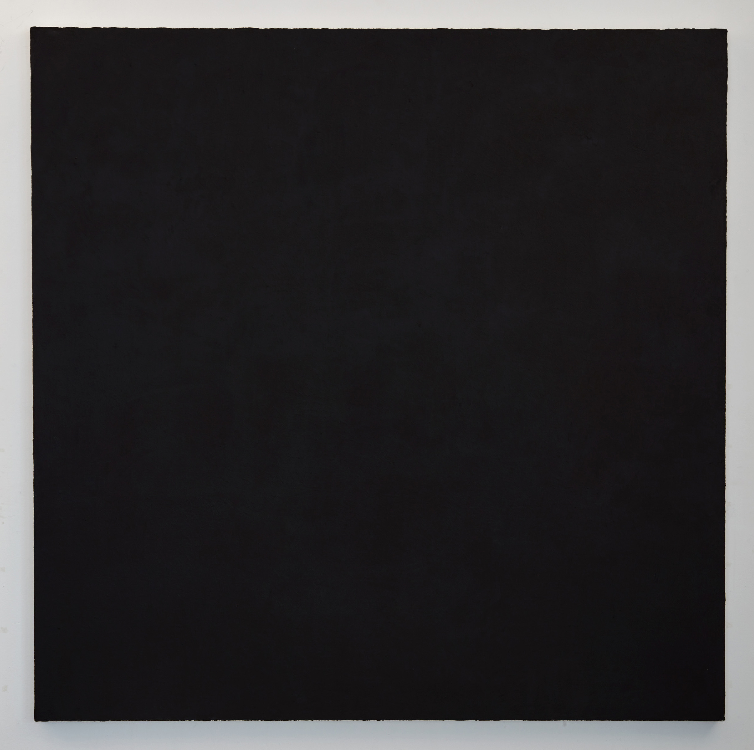 DAVID SERISIER  graphite black oxide painting 1 , 2018 oil and wax on linen 200.5 x 200.5 cm