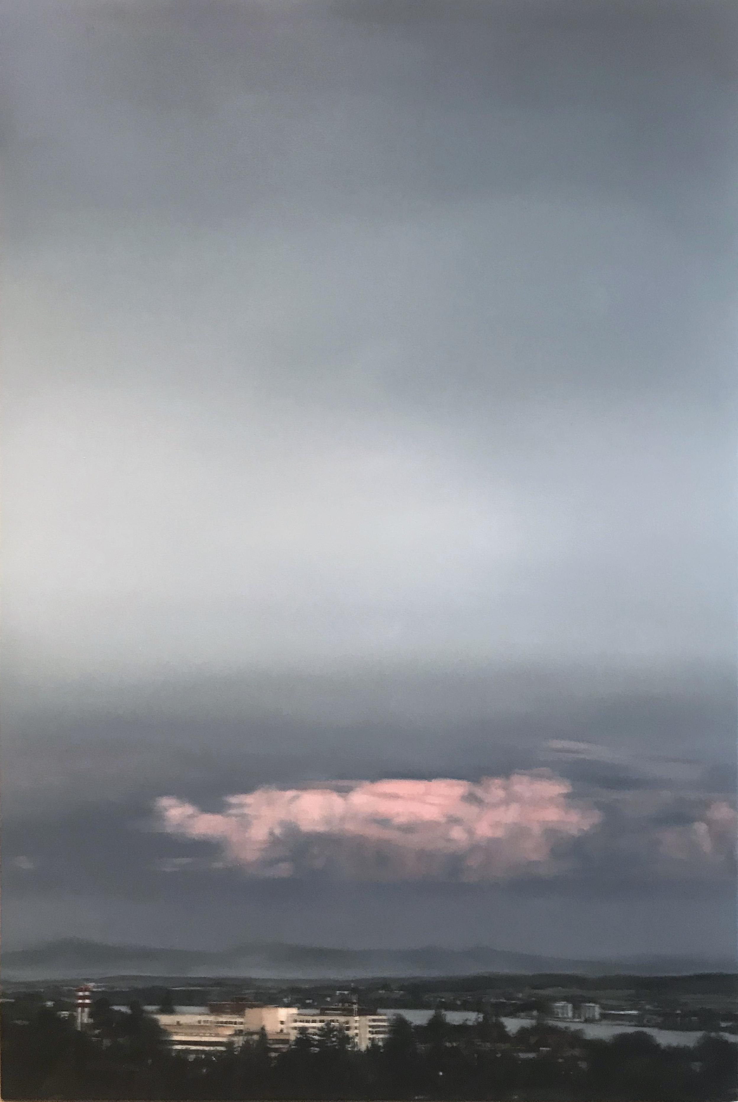 AMELIA CARROLL  town-1 , 2018 oil on canvas 151 x 101 cm