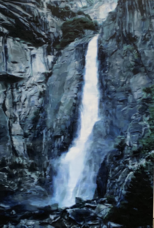 AMELIA CARROLL  waterfall-2 , 2019 oil on canvas 151 x 101 cm