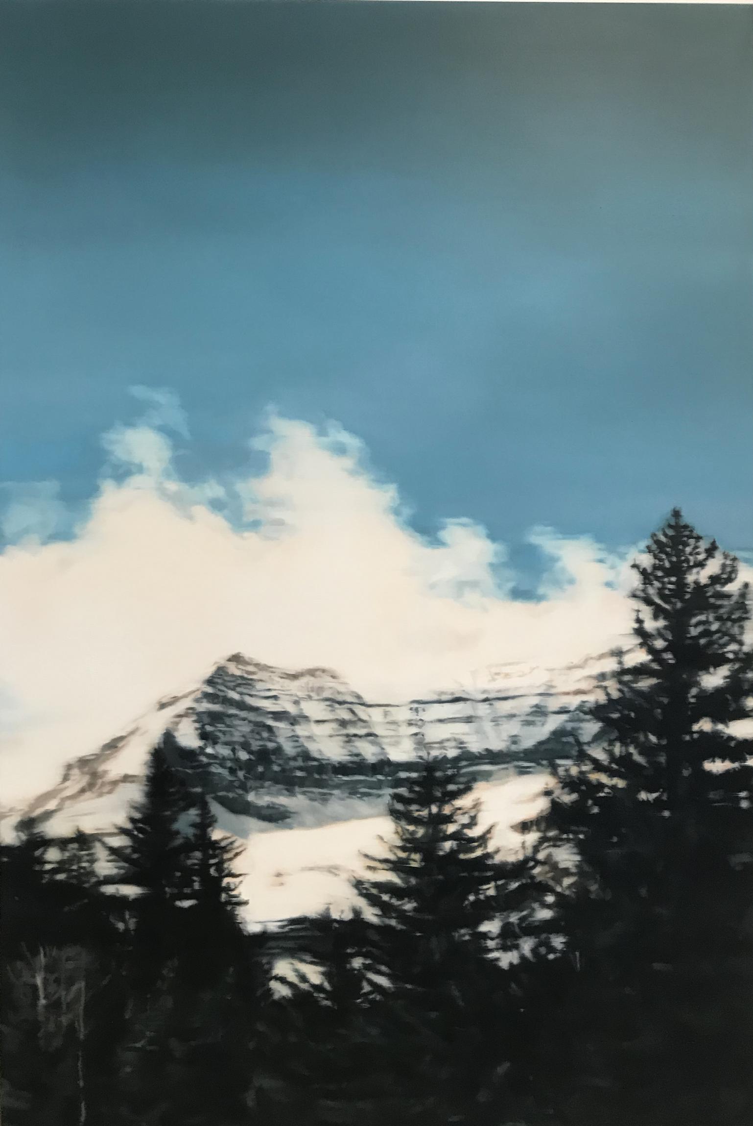 Amelia Carroll  mountain-9 , 2019 oil on canvas 151 x 101 cm