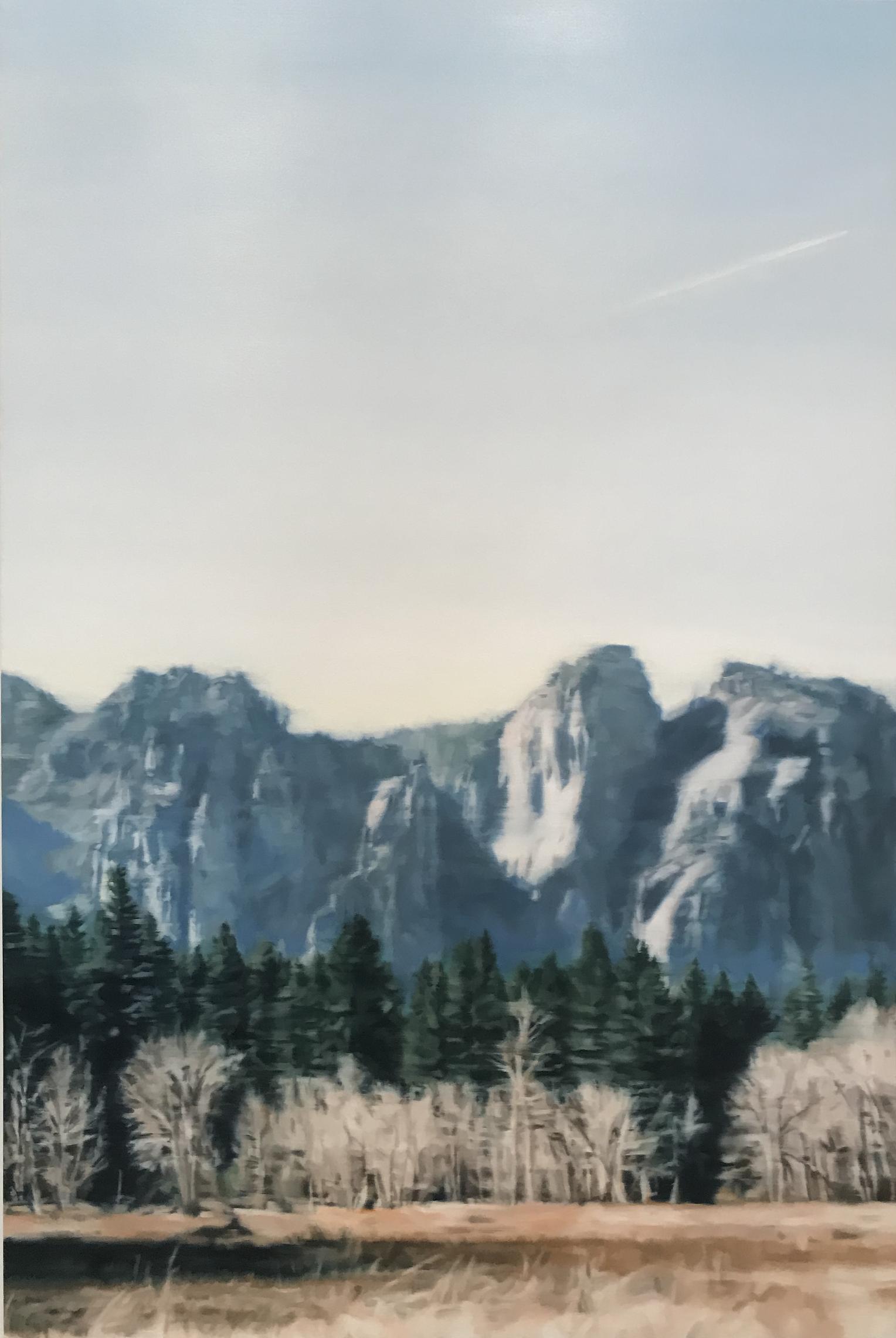 AMELIA CARROLL  valley-1 , 2019 oil on canvas 151 x 101 cm
