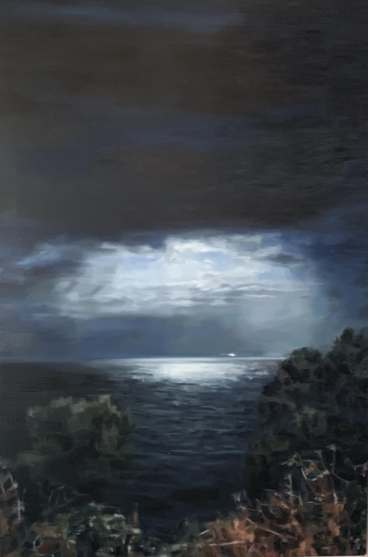 AMELIA CARROLL  night-1 , 2018 oil on canvas 151 x 101 cm