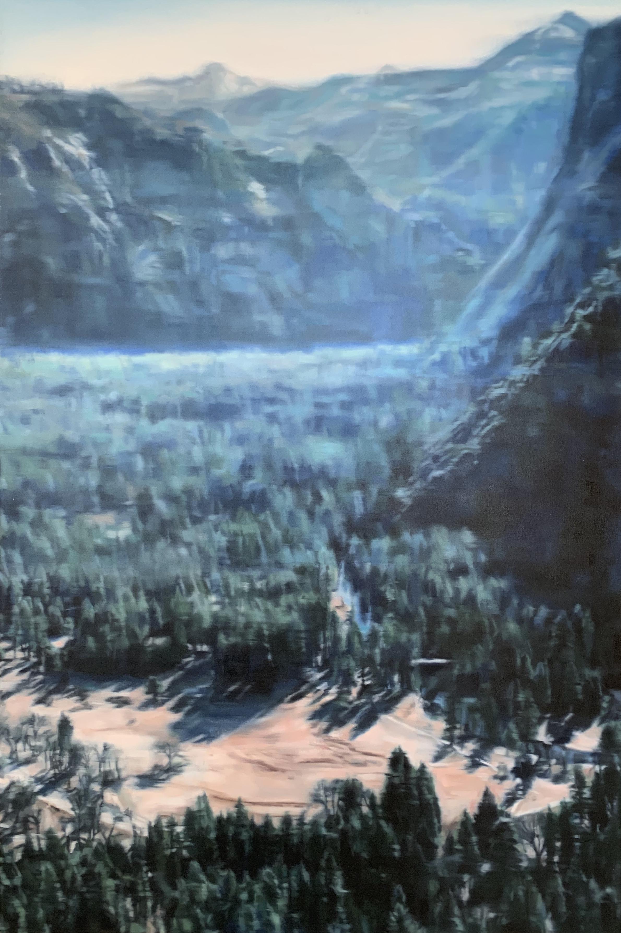 AMELIA CARROLL  valley-2 , 2018 oil on canvas 151 x 101 cm